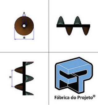 73. Desenvolvimento Rosca Helicoidal