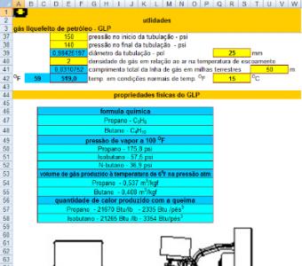 90. Cálculo de tubulação vazao GLP