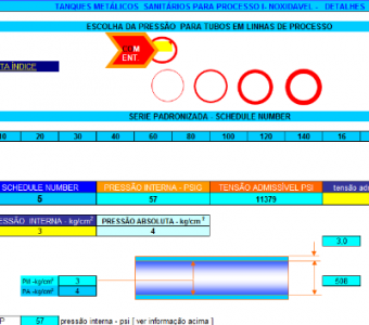 92. Cálculo Selecao tubos linha processo