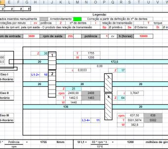 16. Cálculo Projeto redutores velocidade