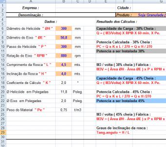20. Cálculo Rosca Transportadora