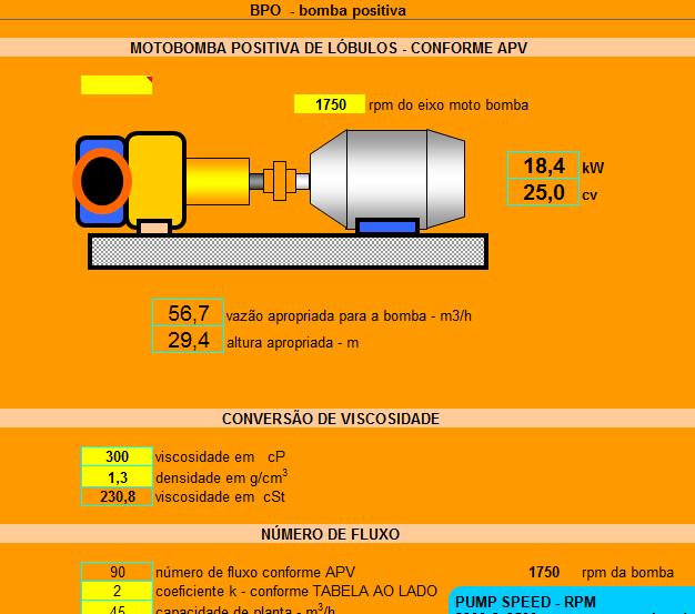13. Cálculo capacidade potencia moto bomba positiva lóbulos