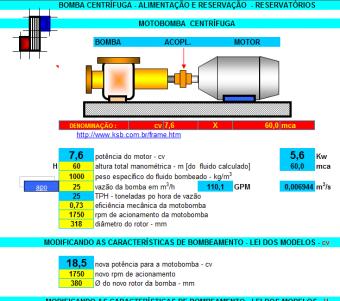 8. Cálculo bombas centrifuga potencia vazão pressão