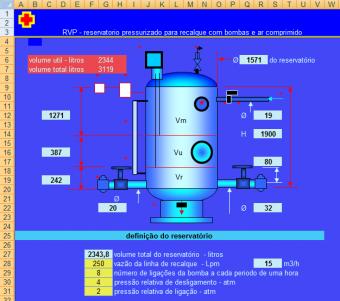 48. Dimensionamento reservatório Pressurizado Recalque bomba e ar comprimento