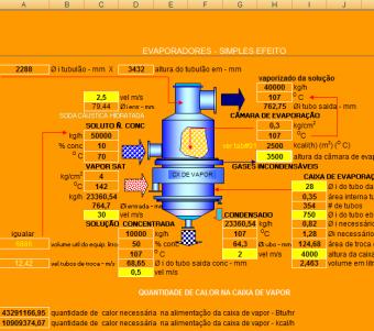 49. Cálculo Evaporadores simples efeito