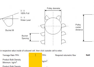 Cálculos Online Cálculo de Elevadores de Canecas Capacidade Tensão Potência