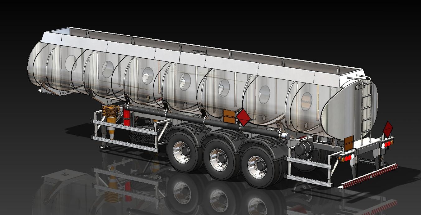 Projetos Mecânicos FP: Semi-Reboque Tanque Semi-Elíptico 32.000L