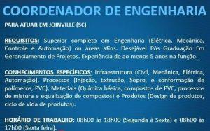 Vaga [8 de September de 2016]: Coordenador de Engenharia