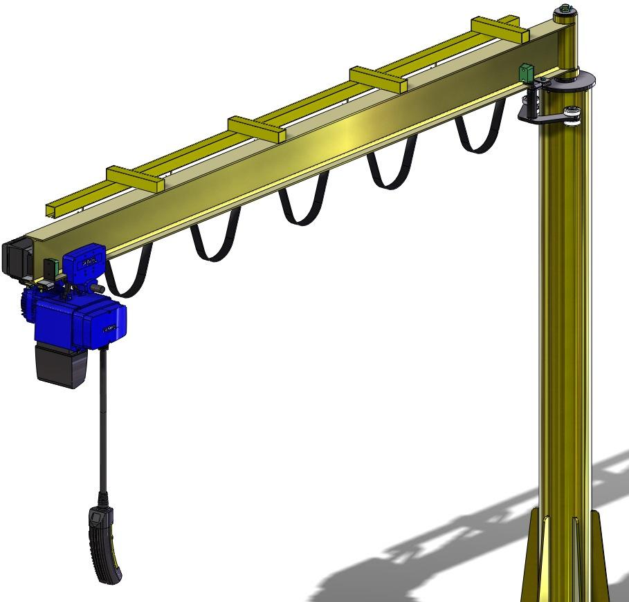 Projetos FP: Pórtico com talha elétrica – Produto Standard
