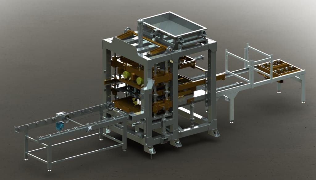 Projetos FP: Projeto de Máquina Vibro-Prensa para Blocos de concretos