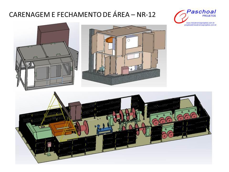 Projetos FP: Proteções e fechamento de área conforme NR-12