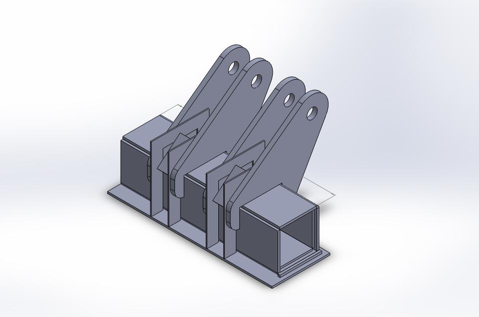 Projetos FP: Gabarito para conjunto do acionamento para basculantes