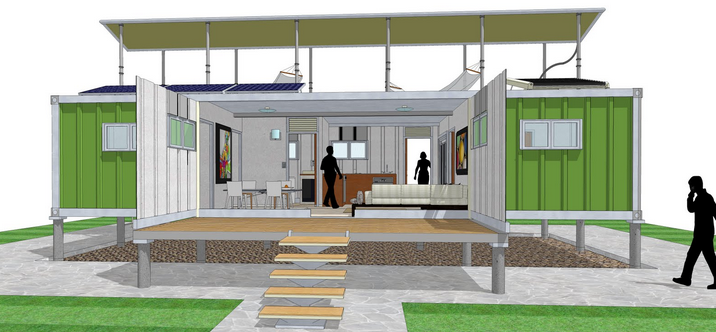 Projetos fp casa container f brica do projeto Diy home design software free
