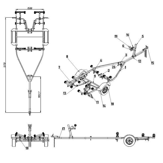 Projeto Solicitado [28 de julho de 2014] – Carretinha reboque para barcos e transportes de cavalos