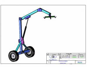 Projeto Solicitado [25 de Julho de 2016] - Guincho hidraulico para trator com roda movel