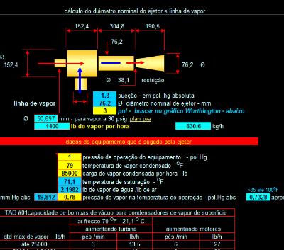 81. Cálculo diametro nominal linha vapor