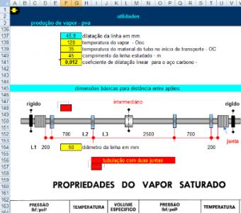 82. Cálculo Dimensionamento de rede Vapor