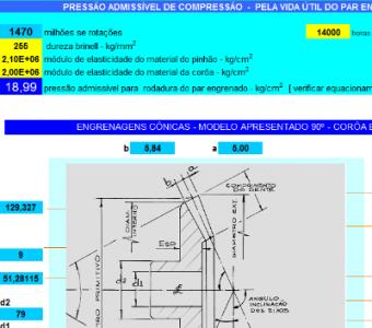 55. Cálculo Engrenagens Conicas