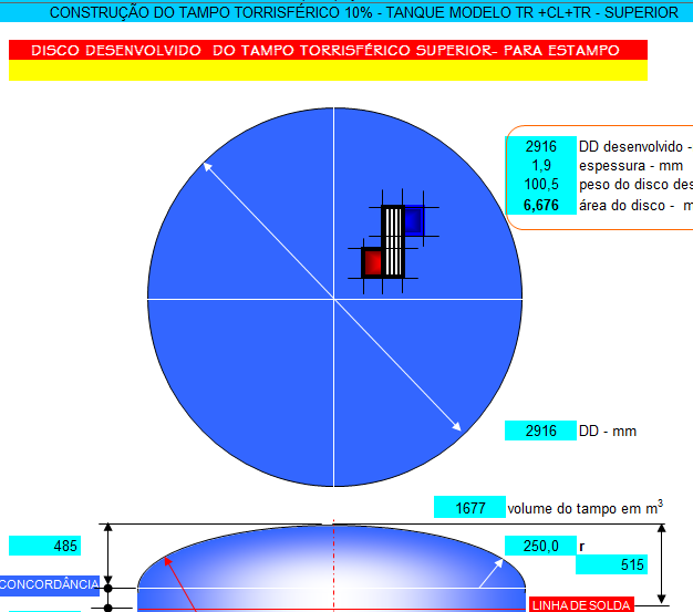 22. Cálculo fundo Tanque Abaulado