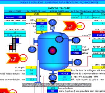 29. Cálculo Projeto Tanque Sanitário Atmosférico fundo Abaulado