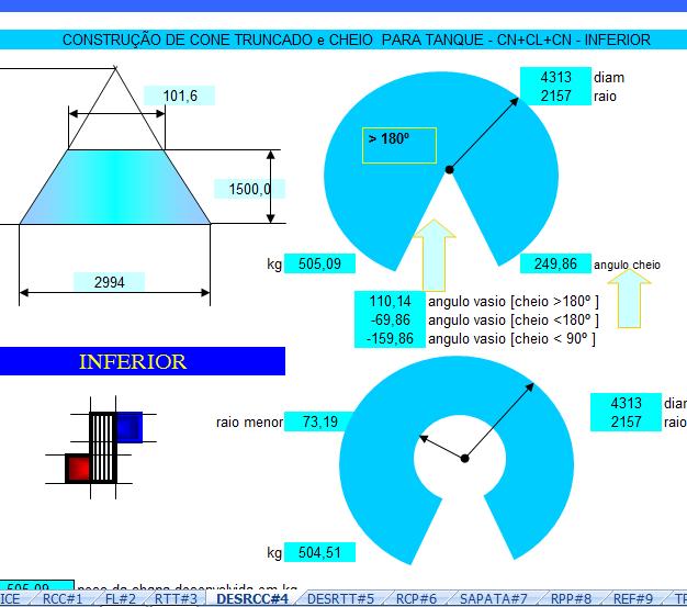 23. Cálculo fundo Tanque Cônico