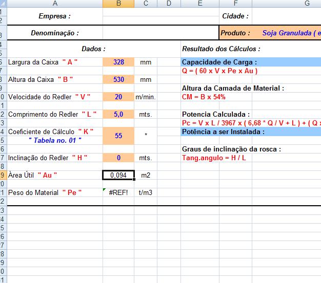 37. Cálculo Redler