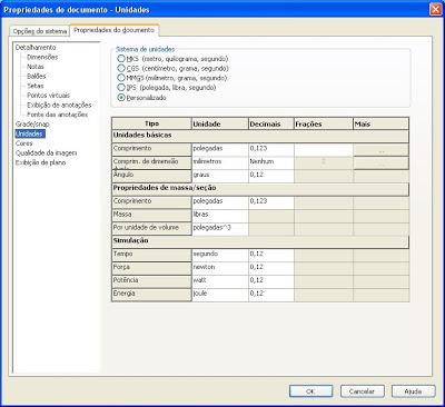 Como criar template no SolidWorks. Linkar legenda com as propriedades do documento