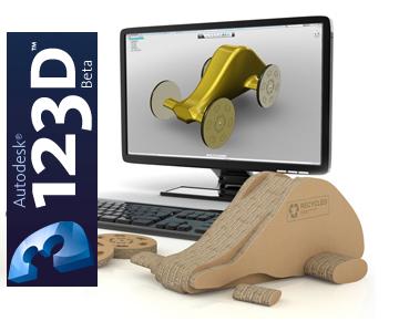 Autodesk lança Software Gratuito 3D: 123D