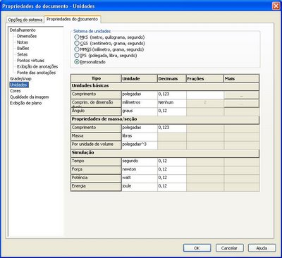 Como criar template no SolidWorks. Linkar legenda com as propriedades do documento