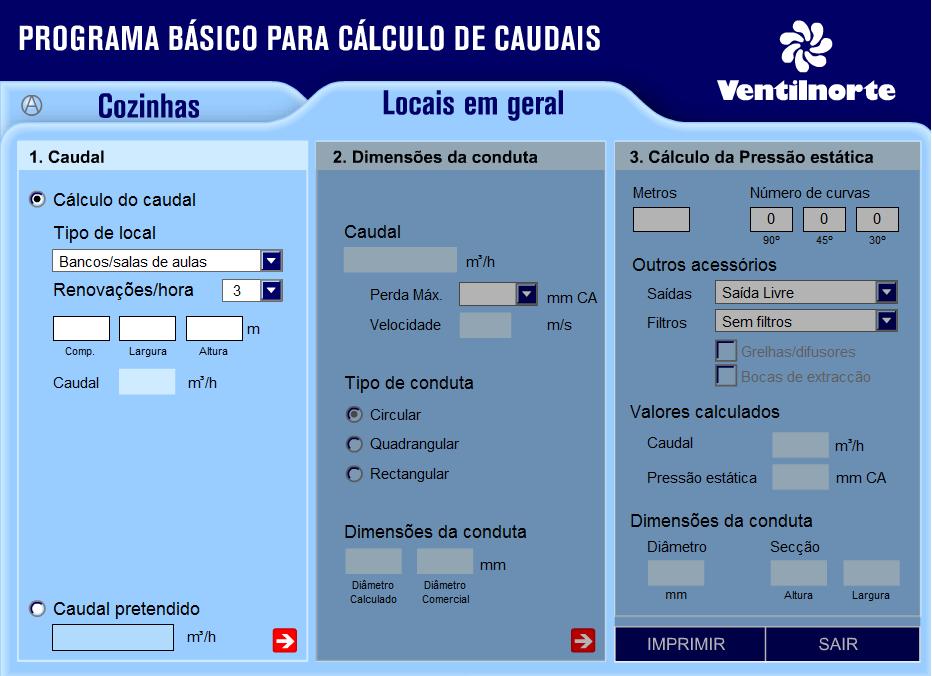 Cálculos Online: Cálculo Básico para Sistema de Aspiração