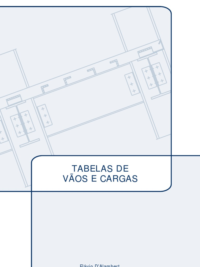 Série Projeto e Cálculo de Estruturas Metálicas: Tabela de Vãos e Cargas