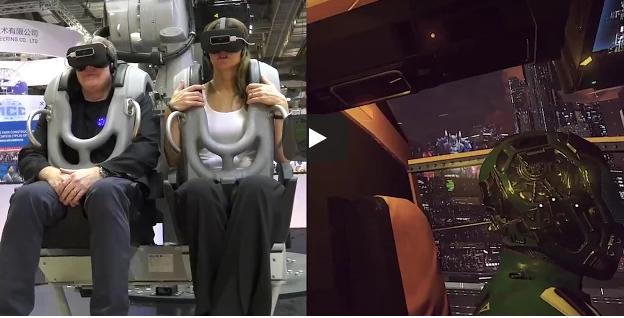 R3EX Realidade Virtual com Robô 4 Eixos