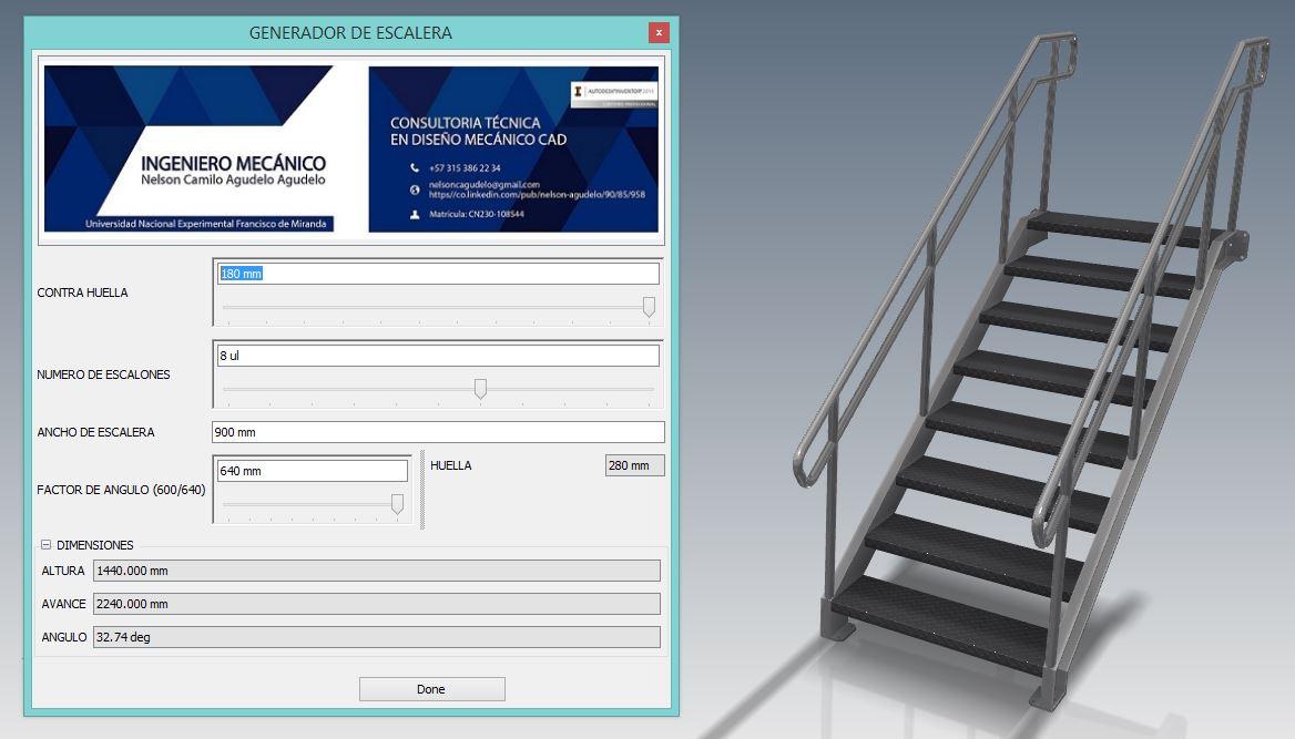 Projetos Paramétricos: Projeto de Escada 3D Customizada com Inventor iLogic
