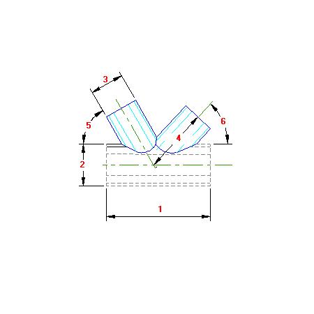 23 Planificação União tres tubos boca de lobo B traçado caldeiraria