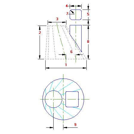 49B Planificacao Cone Obliquo para Retangulo vertical traçado caldeiraria
