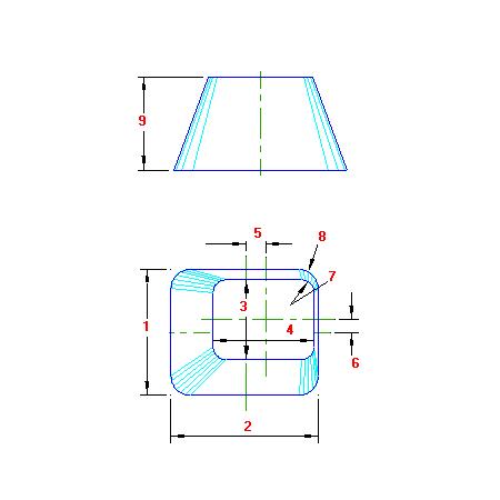 64 Planificacao Transição Retangulo para retangulo com deslocamento traçado caldeiraria