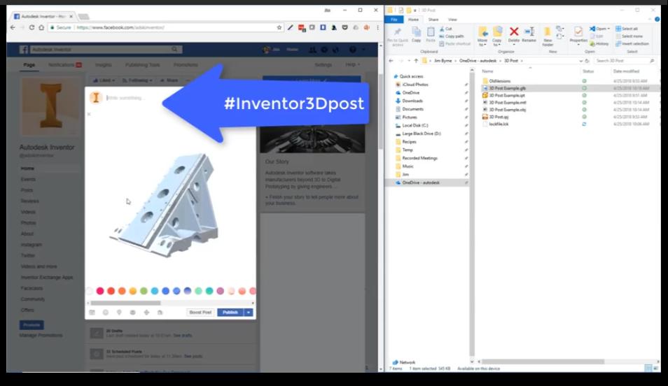 Autodesk Inventor para Facebook: Crie um Post interativo em 3D!