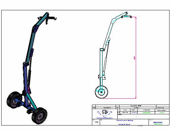Projeto Solicitado [25 de Julho de 2016] – Guincho hidraulico para trator com roda movel