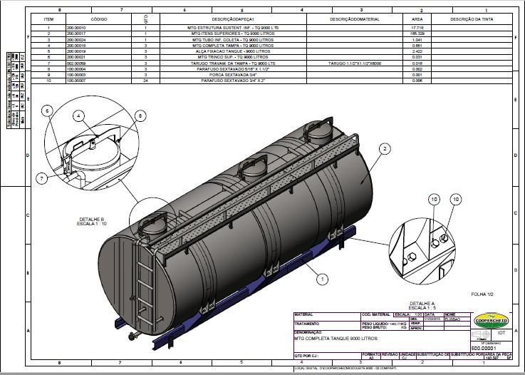 Projetos FP: Tanque para transporte de leite (Rodoleite)