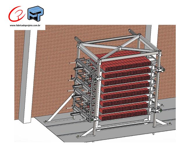 Projetos FP: Estação de alinhamento de blocos de concreto para estufa