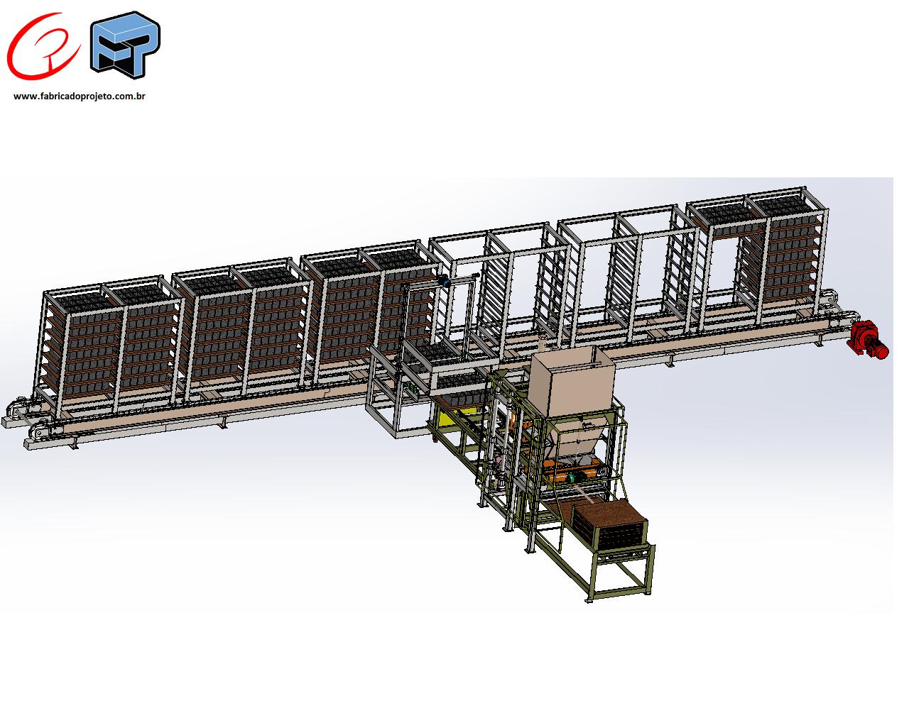 Projetos FP: Esteira de saída de blocos, com sistema de trac a rac
