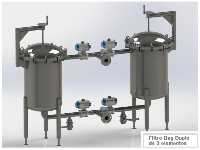 Projetos FP: Filtro Bag Duplo de 3 elementos